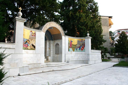 Berea monument in Veria Greece. St. Paul visited Berea and preached the gospel as recorded in Act 17.
