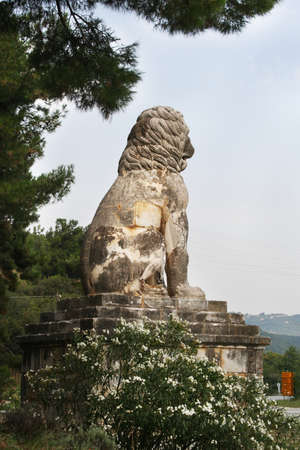 Lion of Amphipolis, which dates back to the 4th century BC. Editorial