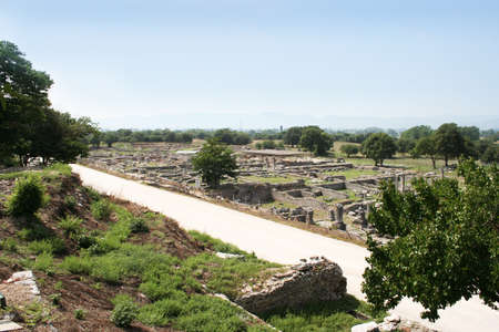 These ruins from Ancient Philippi were the homes of civil and state markets visited by St. Paul as recorded in Acts 16 of the Bible. Philippi was along the Egnatian Way and was the location Paul and Silas were imprisoned and where Paul met Lydia the merch