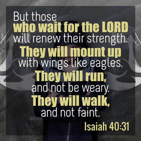 But those who wait for the Lord will renew their strength. They will mount up with wings like eagles. They will run, and not be weary. They will walk, and not faint. Isaiah 40:31 스톡 콘텐츠