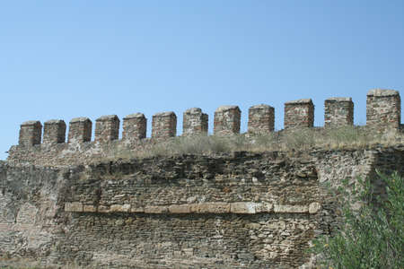 Detail from the walls surrounding Thessaloniki, Greece.