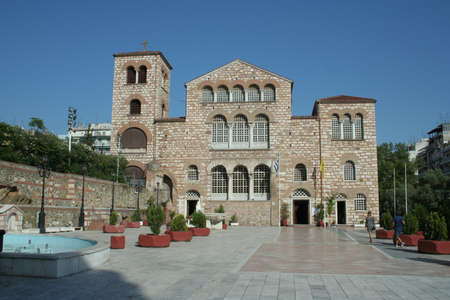 Hagios Demetrios was originally built in the 4th century in Thessaloniki, Greece. It has been rebuilt many times through the centuries with the final rebuild beginning in 1917. The church contains a crypt. Editorial