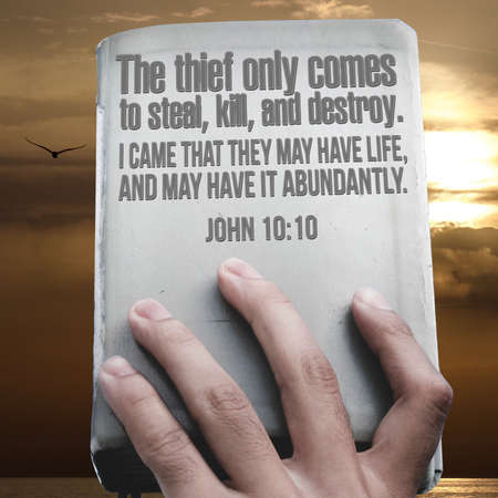 The thief only comes to steal, kill, and destroy. I came that they may have life, and may have it abundantly. John 10:10