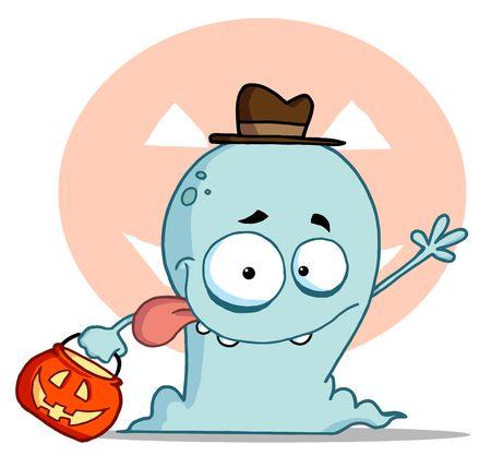 idzie: Szczęśliwy Ghost znajdzie Trick lub badaniiem