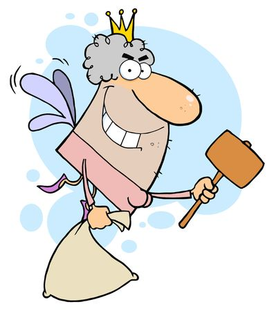 tooth fairy: Tooth Fairy With A Mallet And Bag