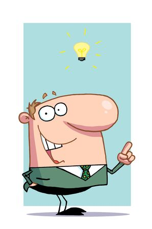 has: Creative Businessman Has Lightbulb Moment