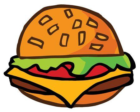 Cartoon Cheeseburger Stock Vector - 6792497