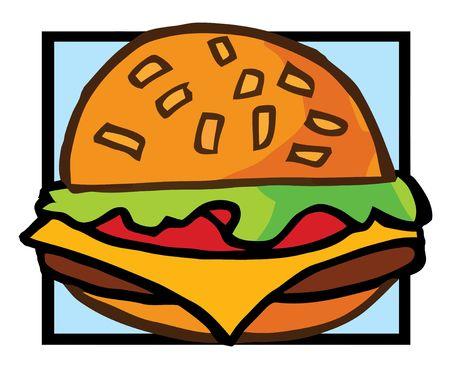 Cartoon Cheeseburger Vector
