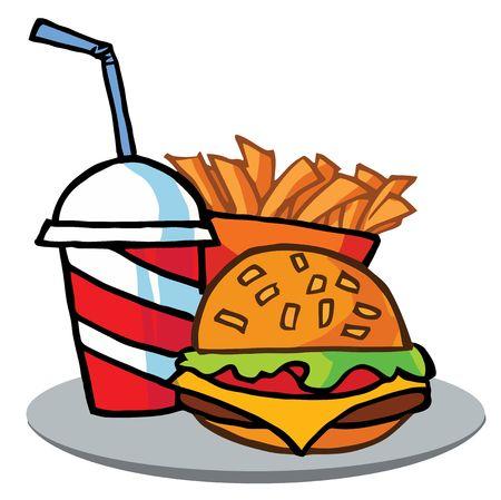 papas fritas: Cola, Fries Y Cheeseburger