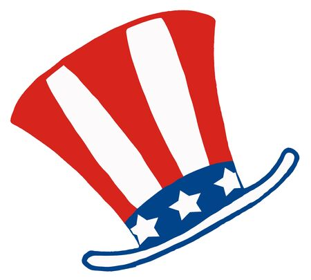 American Patriotic Hat Vector