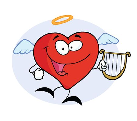 Angel Red Heart Vector