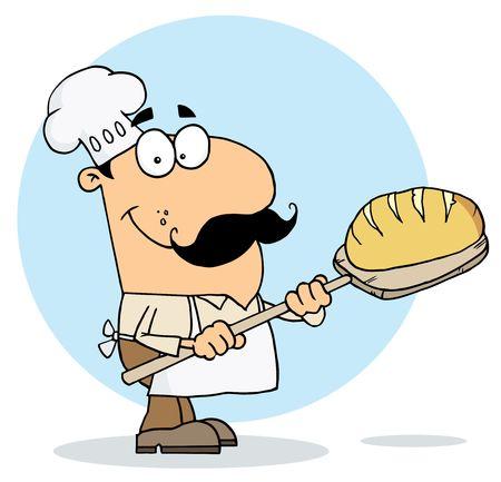 메이커: Cartoon Bread Maker Man 일러스트