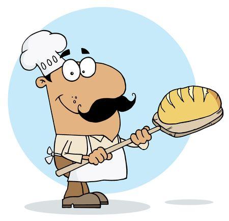 panadero: Hombre hispanos de Baker de pan