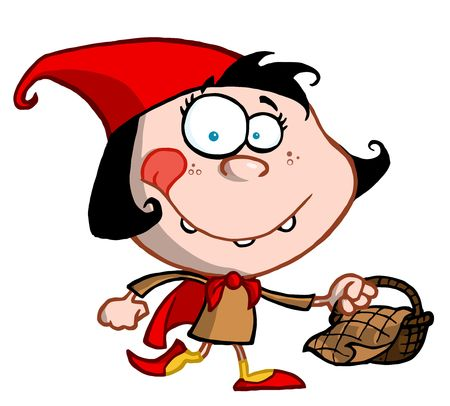 작은 빨간 승마 후드 소녀