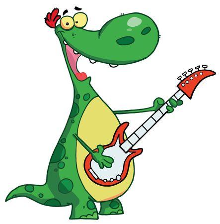 renders: Dinosaur plays a guitar