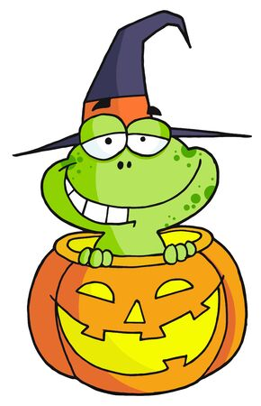 Halloween frog Illustration