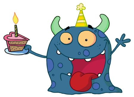 b day parties: Birthday Monster Illustration