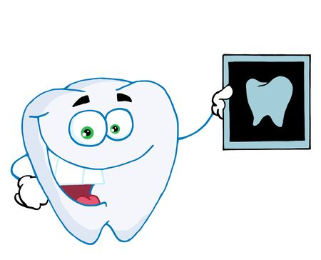 Happy Tooth With An Xray Vector