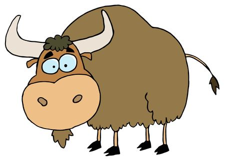 Cartoon Brown Yak Stock Vector - 6906725