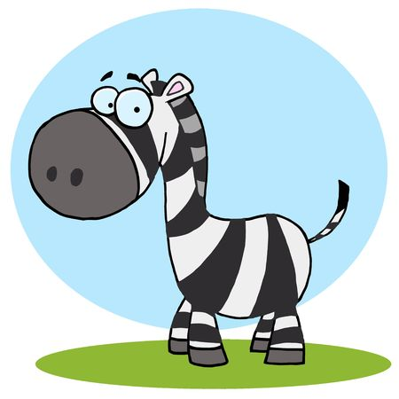 Cute Cartoon Zebra ,background Stock fotó - 6907039