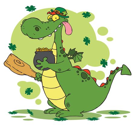 paddys:   Dragon Leprechaun with a pot of gold
