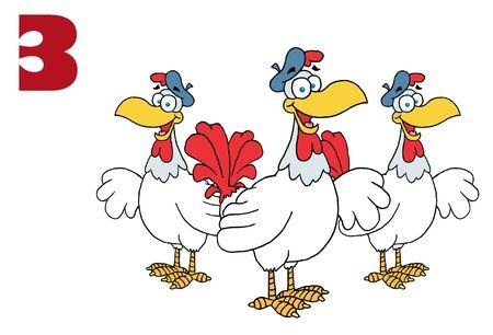 Three French hens photo