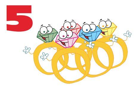 Vijf gouden ringen