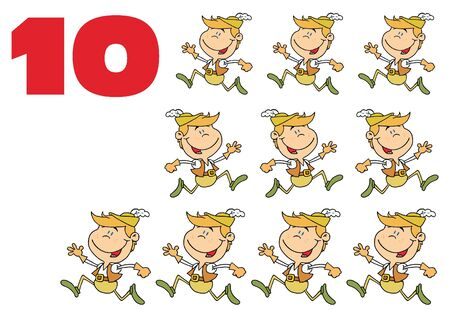 Ten lords a-leaping Stock Photo - 6907099