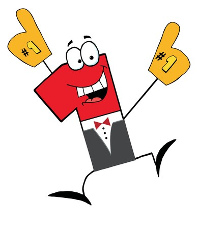 1 place:   Car�cter de Cartoon de empresario Number One