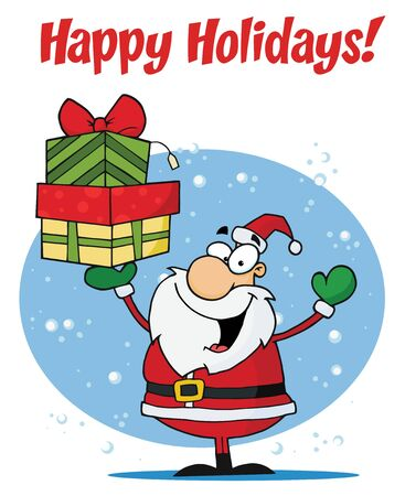 nick:  Holiday Greetings With Santa Claus Illustration