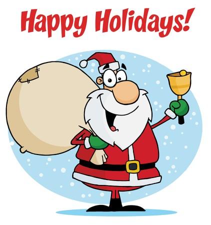 Happy Holidays With Santa Claus Vector