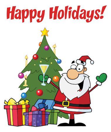 Greetings With Christmas Santa