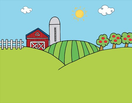 Country Farm Stock Vector - 6905405