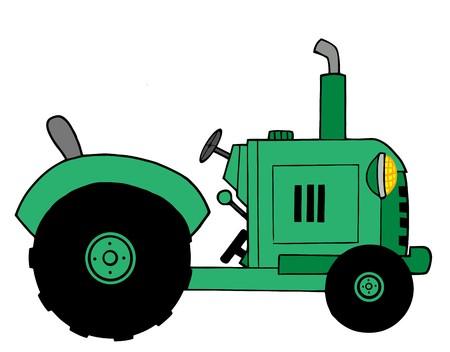 Green Farm Tractor Stock Vector - 6946396