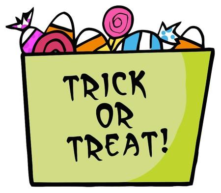 Verde Trick Or Treat secchio di Candy  Archivio Fotografico - 6946394