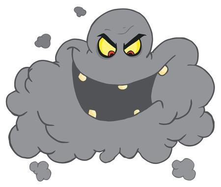 Evil Ash Cloud Laughing Vector