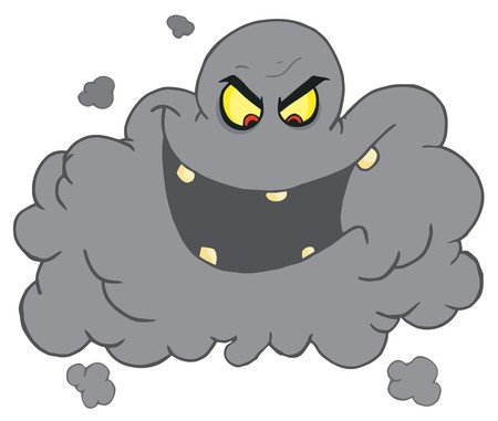 Evil Ash Cloud Laughing