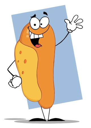 hot dog: Friendly Hot Dog Character
