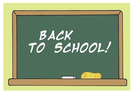 Back To School Chalkboard In A Class Room Vector