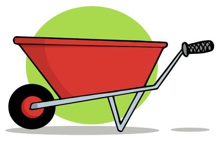 Red Gardening Wheelbarrow photo