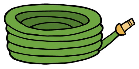 Green Garden Hose Stock Photo - 7054187