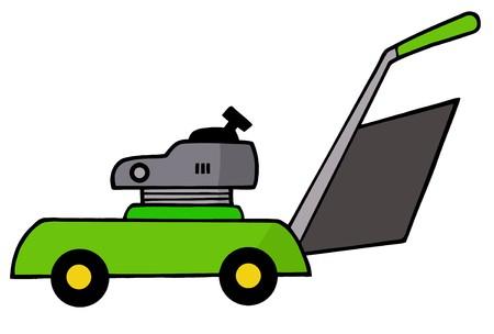 lawn mower: Green Lawn Mower Stock Photo