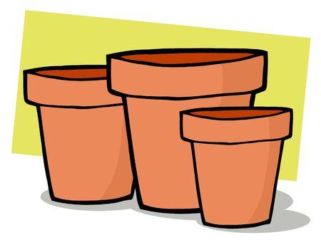 terra: Terra Cotta Pots Stock Photo