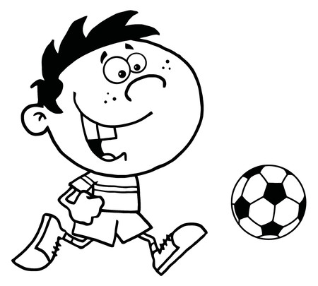 sports equipment: Soccer Boy With Ball