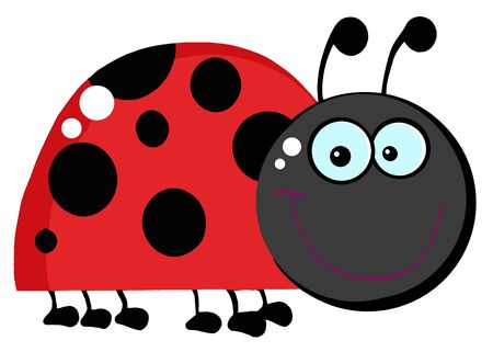 Ladybug Cartoon Character  photo