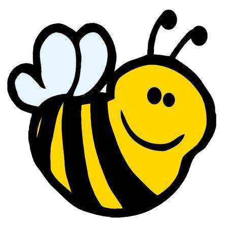 cute bee: Bee Cartoon Character  Stock Photo