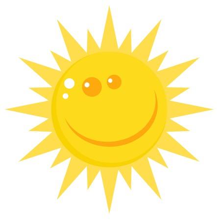 Smiling Sun Cartoon Character