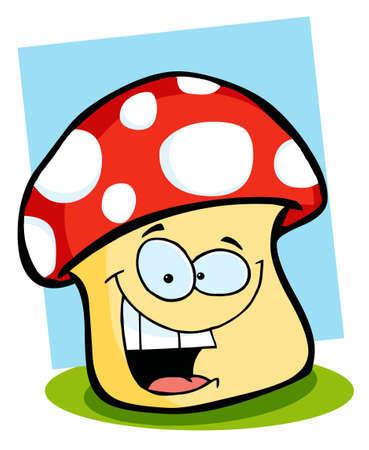 food poison: Smiling Mushroom  Stock Photo