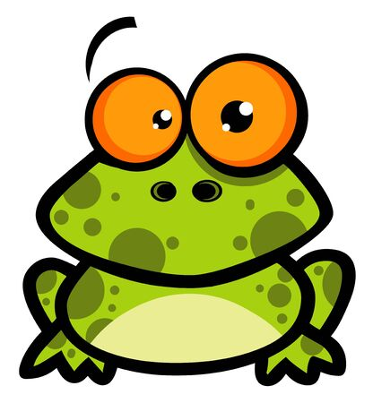 Little Frog Cartoon Character  Stock Photo
