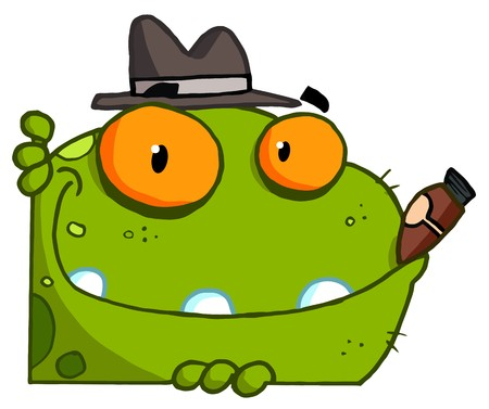 organized crime: Mobster Frog Cartoon Character